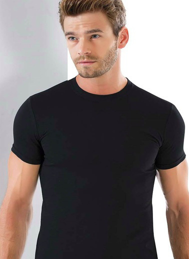 Akbeniz Erkek 0 Yaka Likralı Tshirt 6571 Beyaz
